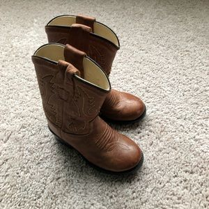 Old West leather toddler cowboy/cowgirl boots 5